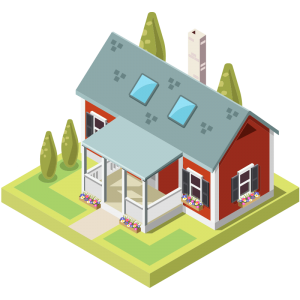 red-vector-house